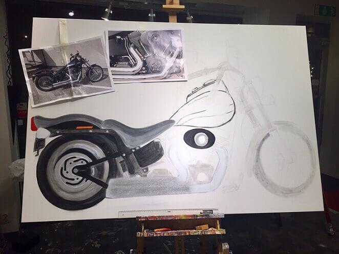 Harley Davidson Målning
