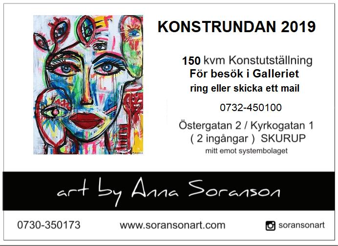 Konstutställning Soransonart i Skurup